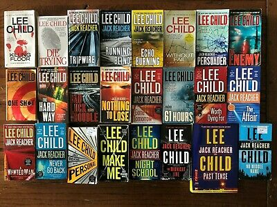 Lot 24 Lee Child Complete Jack Reacher Series 1-23 + No Middle Name Past Tense