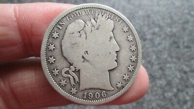 1906'o BARBER SILVER HALF DOLLAR in VERY GOOD condition,NICE DATE, FREE SHIPPING