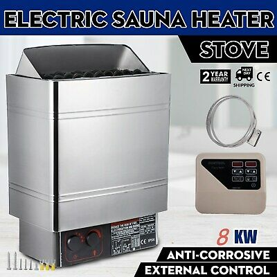 400V Sauna Spa Heater Stove Wet & Dry Stainless Steel External Digital Control