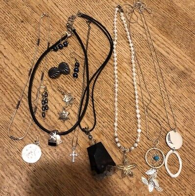 Sterling Silver Jewerly Lot Mixed Solid And With Stones Not Scrap 104 Grams 1493