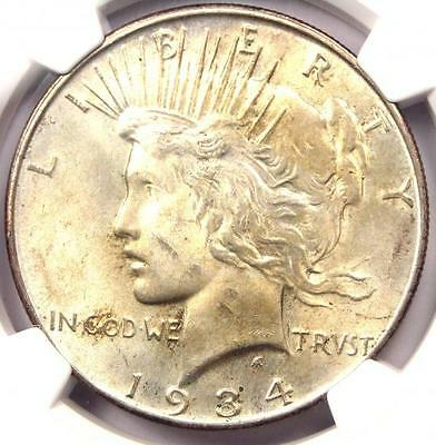 1934-D Peace Silver Dollar $1 - Certified NGC MS62 - Rare UNC BU Coin