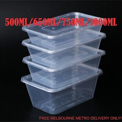 Takeaway Individual Food Container Plastic Disposable Box Lids Containers