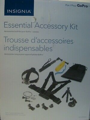Insignia Essential Accessory Kit for GoPro Her camera's and other action camera'