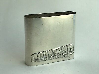 Antique Rare Sterling Silver MSB Magnificent Russian Lighter Case