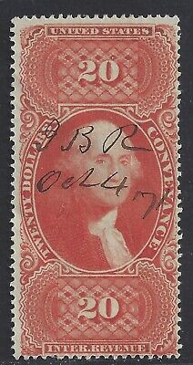 First Issue Revenue Stamp R98c Conveyance CV $125 Nice! Bright Color