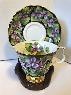 Vintage royal Albert purple violet tea cup and saucer set Provincial Flowers