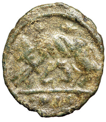 """FOUNDATION OF ROME Barbarous Roman Coin """"She-Wolf Romulus, Remus"""" CERTIFIED"""