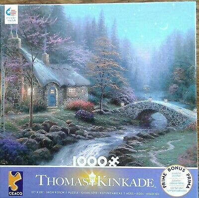 Astounding Thomas Kinkade Twilight Cottage Ceaco 1000 Piece Jigsaw Puzzle New Home Interior And Landscaping Ologienasavecom