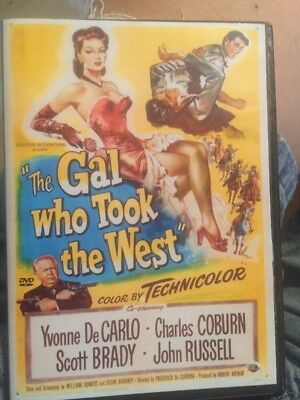 The Gal Who Took The West Yvonne Decarlo Charles Corbin Dvd See Description