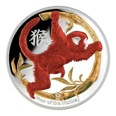 Niue 2016 $2 Chinese Lunar Calendar - Year of the Monkey 1 Oz Silver Proof Coin
