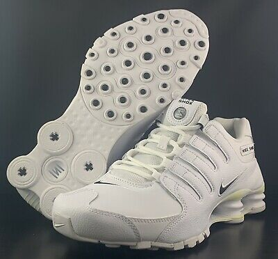 sports shoes 3993d 4ed6f NEW Nike Shox NZ EU White Leather Running Shoes 501524-106 Men s Size 8.5