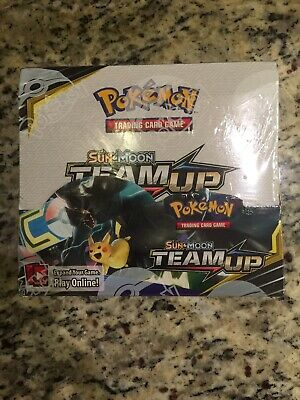Pokemon Tcg Sun & Moon Team Up Booster Box Factory Sealed - English