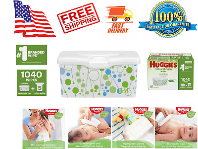 Huggies Natural Care Baby Wipe Refill, Fragrance Free (1,040 ct.) Soft and Safe