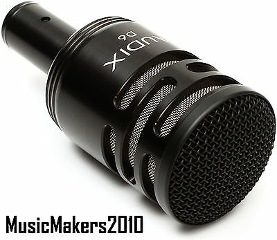 Audix D6 Kick Drum Microphone / Bass Drum Mic D-6 D6 in Orig Box -Expedited Ship