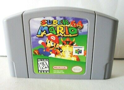 Super Mario 64 (Nintendo 64 N64) Faded Label Cartridge Only Platformer Authentic