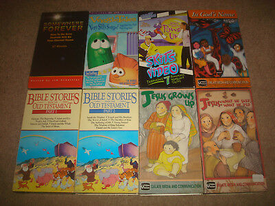 RELIGION VHS LOT Kids Christian Cartoon Bible Stories Songs Jesus