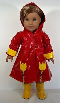 """Raincoat Fits 18"""" American Girl Doll Dress Outfit Clothes"""
