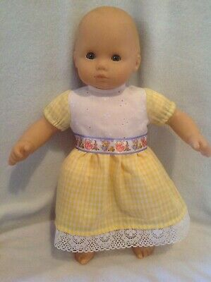 """15"""" Bitty Baby/18"""" American Girl Easter bunny Spring dress Doll Clothes fit"""