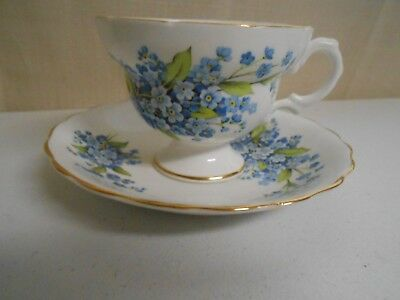 Rosina Blue Forget-Me-Not Flowers Tea Cup And Saucer
