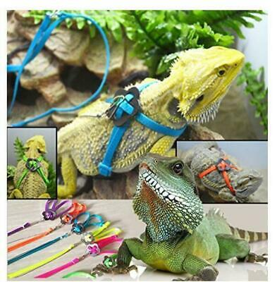 1pc Reptile Lizard Gecko Bearded Dragon Harness and Leash Adjustable Strap