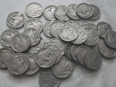 Roll Buffalo//Indian Head Nickels Full Dates 40 coins