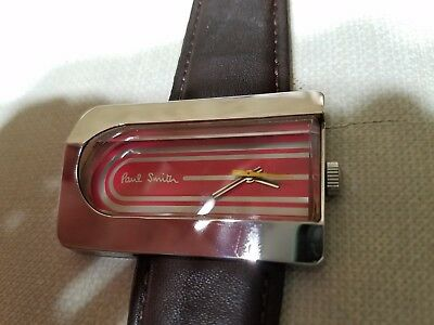 Rare Unique Paul Smith Assymetrical Vintage Art Deco Style Mens Watch