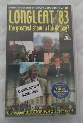 """Doctor Who: signed by JNT VHS """"Longleat '83 The Greatest Show in the Galaxy?"""""""