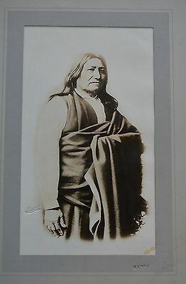 SCARCE CHIEF SPOTTED TAIL photo Sioux Indian DF Barry rare large ~10x14 Native