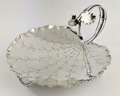 HUKIN & HEATH AESTHETIC MOVEMENT SILVER PLATED STRAWBERRY DISH c1880​