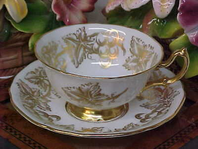 Adderley Gold Pattern Bone China Tea Cup & Saucer Made in England