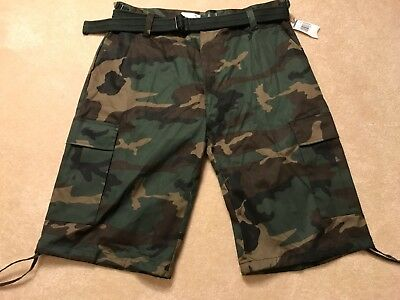 6db0a18c0c Men Regal Wear Solid Camouflage Belted Cargo Shorts Cotton Twill Size 32 to  44 Men's Clothing ...