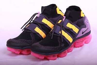 Nike Men's Air Vapormax Flyknit Utility Black Rose Pink AH6834 006 Size 9-10