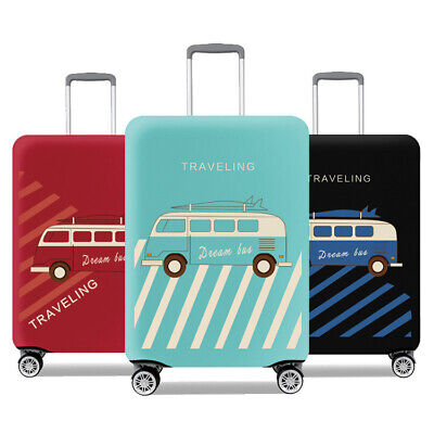 """Retro Elastic Travel Suitcase Protective Cover Bag Luggage Protector 18""""~32"""" Hot"""
