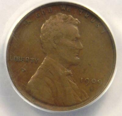 1909-S VDB Lincoln Wheat Cent 1C - ANACS AU50 Detail - Rare Date Certified Penny