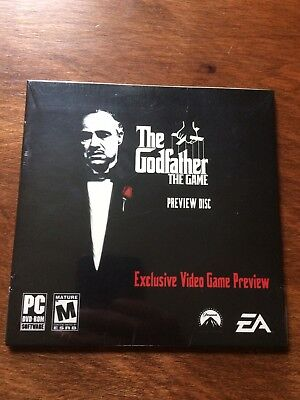 New Sealed The Godfather The Game Preview Disc Rare Video Game EA