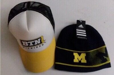 super popular 015a8 21cf5 Michigan Wolverines Football Basketball Big Ten Network Cap   Adidas Beanie
