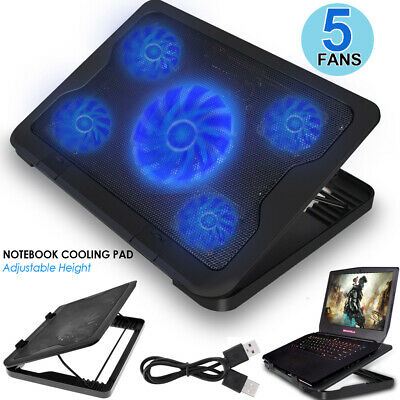 New Adjustable USB Notebook Cooling Cooler Laptop Stand IS930 Black 15 inches