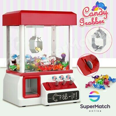 Kids Toy Candy Grabber Claw Machine Carnival Style Gaming Vending Arcade Prize