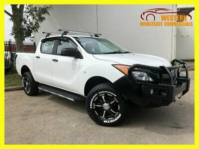 2012 Mazda BT-50 UP0YF1 XT Utility Dual Cab 4dr Man 6sp 4x4 1156kg 3.2DT White