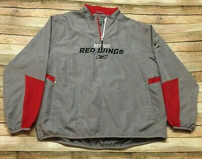 buy online f634a f877e Detroit Red Wings Reebok Pullover Jacket Center Ice Large 1 4 Zip NHL Hockey