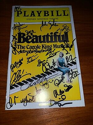 Beautiful Full Cast Signed March 2014 Broadway Playbill