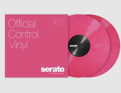 New Sealed Serato Control Vinyl Pink Pair!