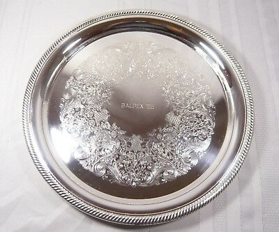 BALTIMORE PHILATELIC Society STAMP Collector TROPHY Silver PLATE Tray BALPEX '65