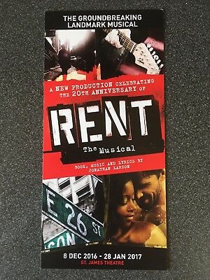 Rent- The Musical 20th Anniversary promotional flyer