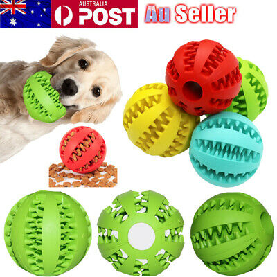 Dogs Ball Chew Pet Puppy Teething Treat Clean Bite Toys Durable Training Rubber
