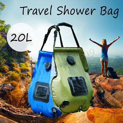 20L Foldable Solar Energy Heated Water Shower Bag Camp PVC Outdoor Travel  !