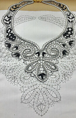 PATTERN for Lace necklace Russian Vologda Lace Full size.