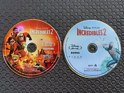 Disney Pixar Incredibles 2 (Blu-ray + Bonus disc + Digital) from 4k set
