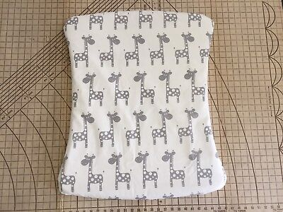 Twin Pack Stokke Old Care Change Mat Pad Cover Grey Giraffe W/waterproof Layer