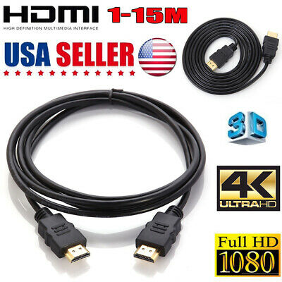 PREMIUM HDMI CABLE For ULTRA-4K TV PS4 BLURAY 3D HDTV XBOX LCD HD 1080P 33ft Lot